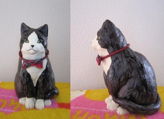 タキシード猫2#すず音窯#陶器 #陶芸作家めいこ#Tuxedo cat