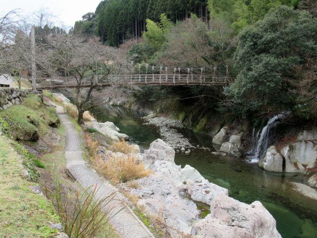 猿飛千壺峡の吊橋1