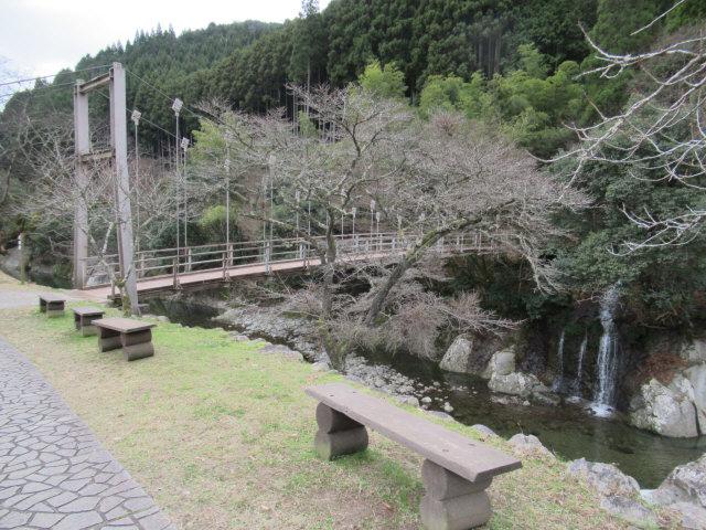 猿飛千壺峡の吊橋2