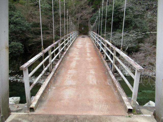 猿飛千壺峡の吊橋9