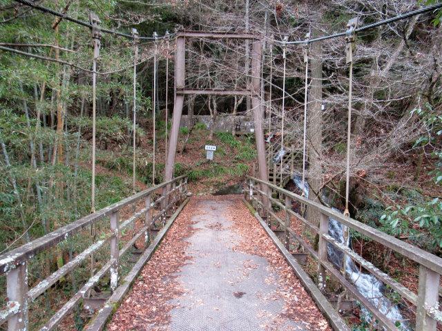 猿飛千壺峡の吊橋a