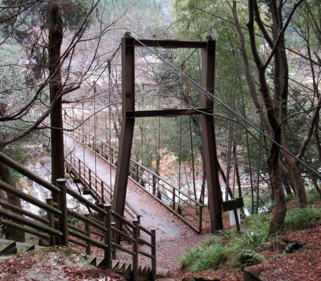 猿飛千壺峡の吊橋8