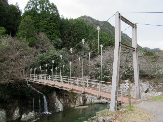 猿飛千壺峡の吊橋5