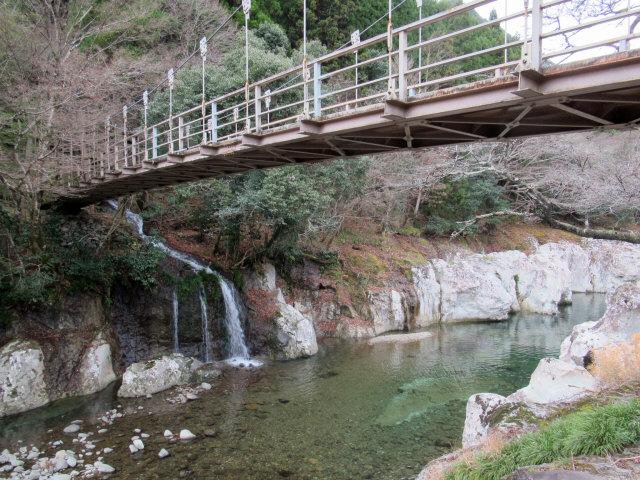 猿飛千壺峡の吊橋6
