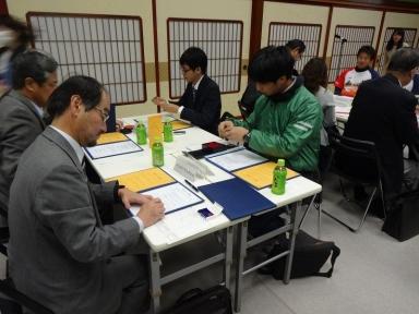 上田会長も署名捺印を