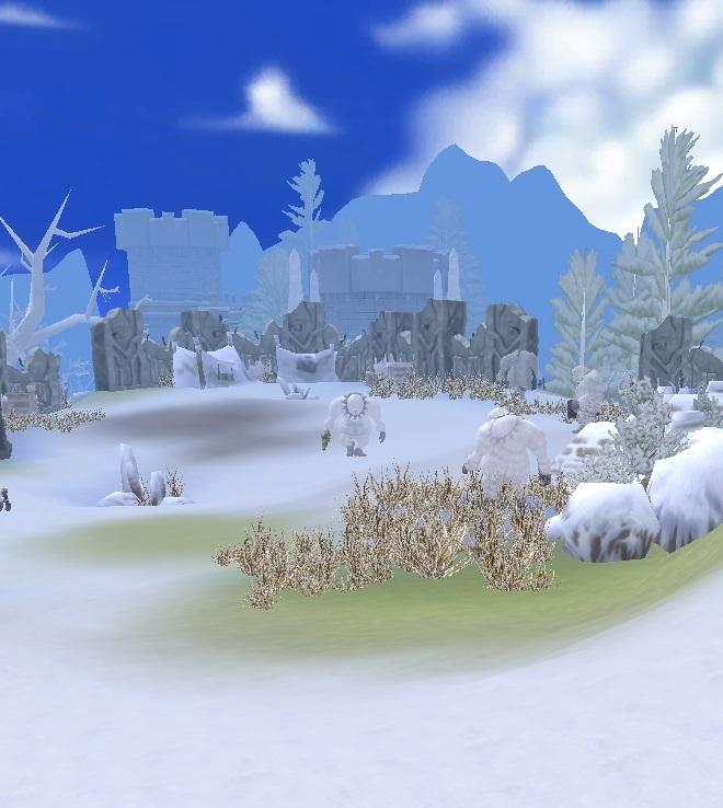 GFブログ(W10)用259A11 GFの風景・騎士の谷 雪だるま砦