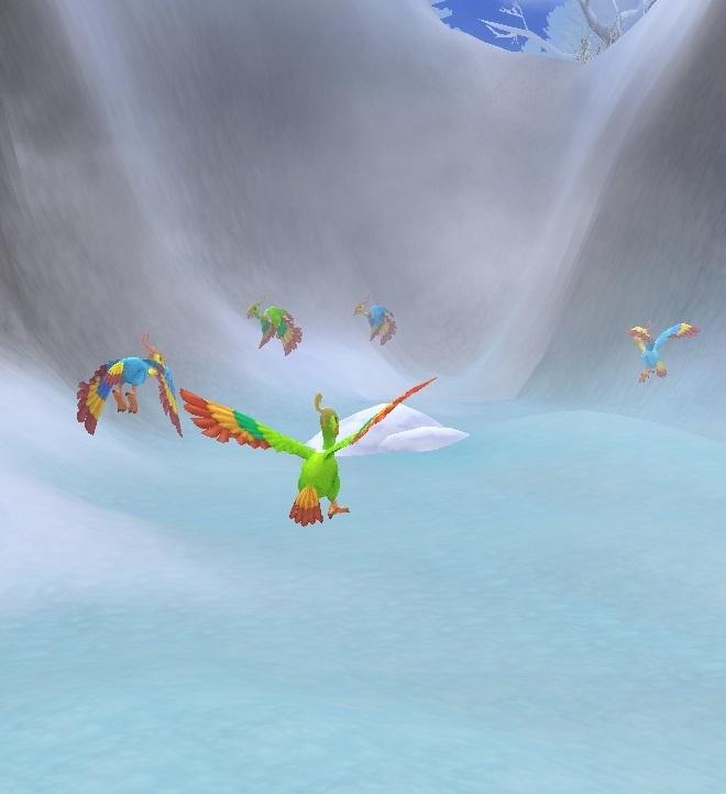 GFブログ(W10)用259A12 GFの風景・騎士の谷 氷湖と鳥