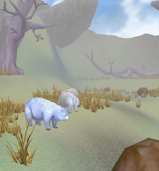 GFブログ(W10)用283A25 GFの風景・いにしえの国境 巨腕クマと野生白熊
