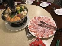 豚バラ薄切り肉をしゃぶしゃぶします181026
