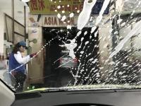 乗って洗車181121