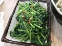 燙空心菜(茹で空心菜)181203