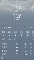 花蓮19℃181231