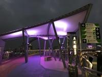 空港線三重駅の遊歩道ライトアップ190122