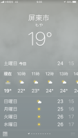屏東市19℃もや190126