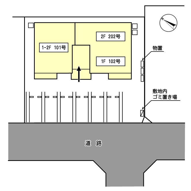 CoCo泉野配置図(予定)