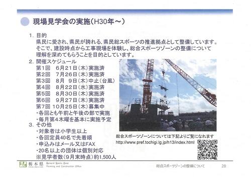 栃木県<総合スポーツゾーン>整備状況 現地調査へ!資料編29