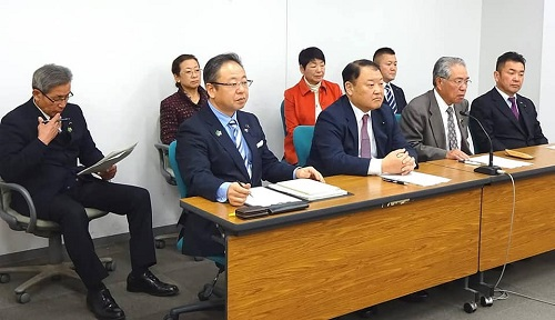 栃木県議会<民主市民クラブ>2019年度 政策推進・予算化要望 知事に申入れ!05