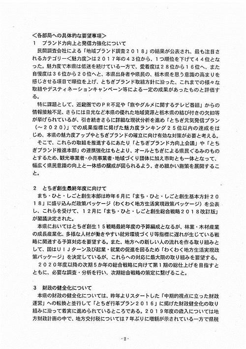 栃木県議会<民主市民クラブ>2019年度 政策推進・予算化要望 知事に申入れ!08