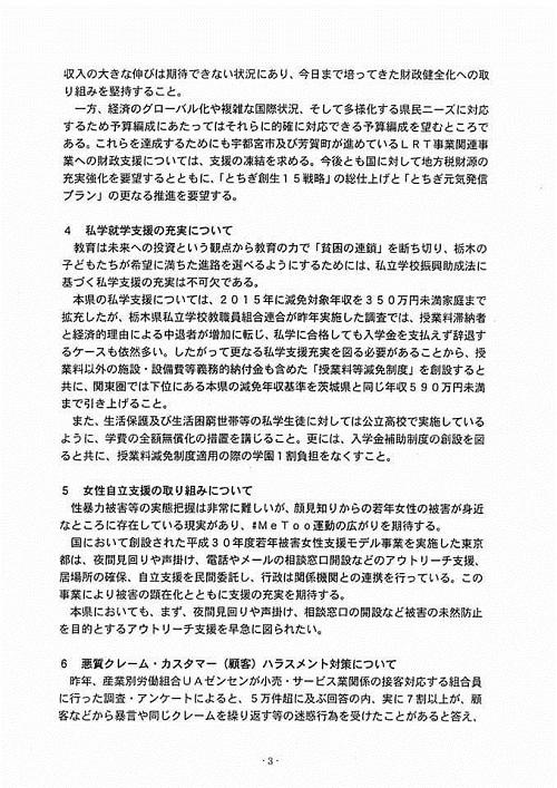 栃木県議会<民主市民クラブ>2019年度 政策推進・予算化要望 知事に申入れ!09