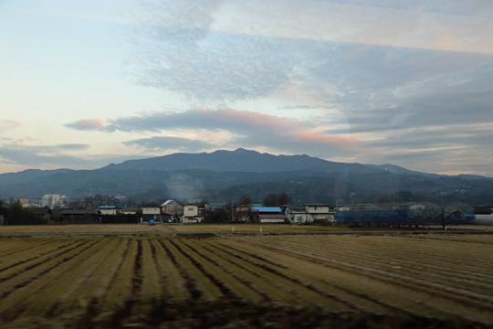 奥羽本線の車窓