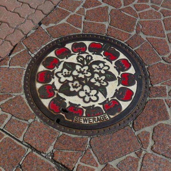 長野市のマンホール(絵柄/カラー)