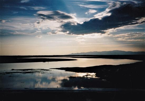 ㉒夕方の湖沼地帯