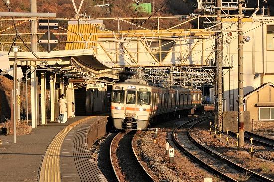①下り列車ホーム