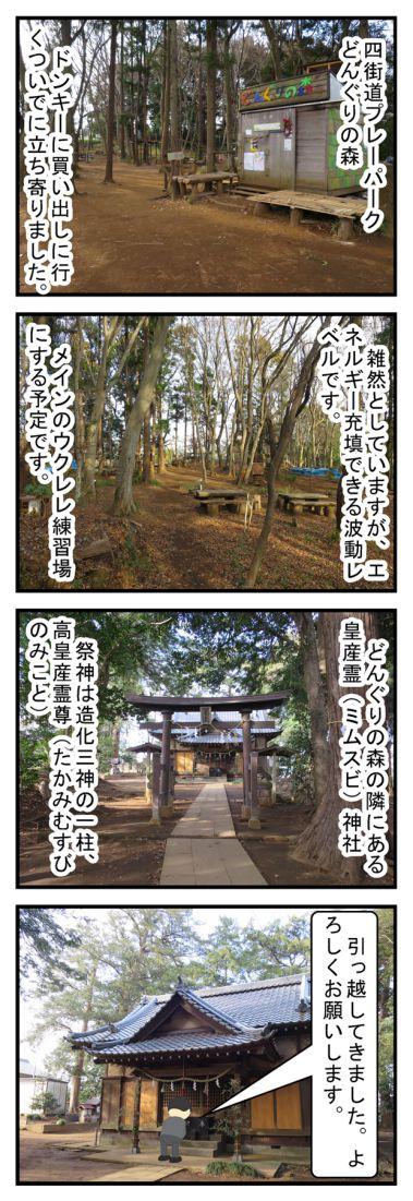四街道便り3 「どんぐりの森・皇産霊神社」