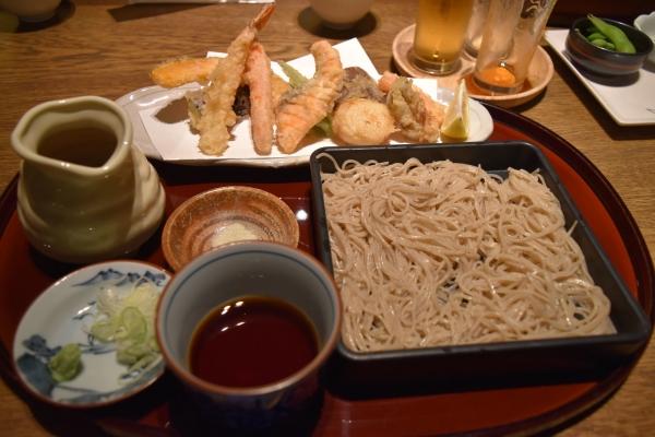 181228-海鮮の天婦羅と二八蕎麦@紗羅晩餐