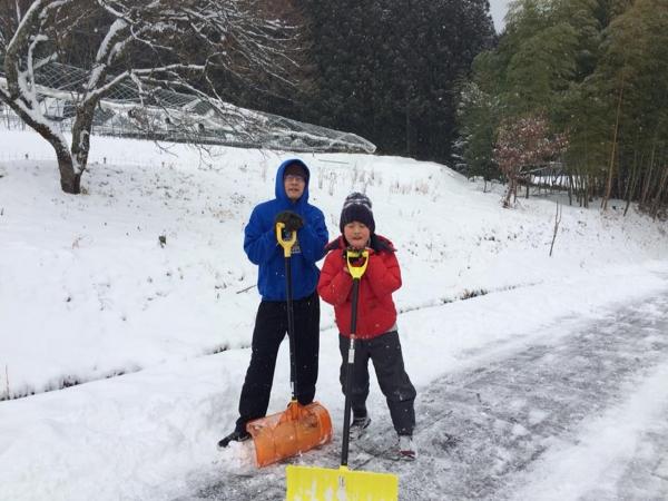 160124-雪かきと言う名の自己鍛錬