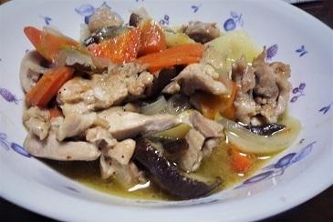 鶏カレー風味