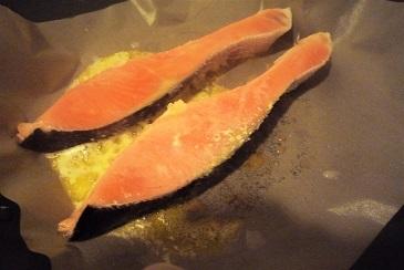 鮭のバター焼き