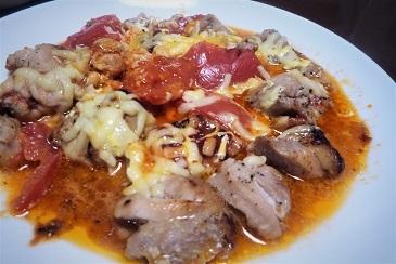 鶏肉トマトチーズ