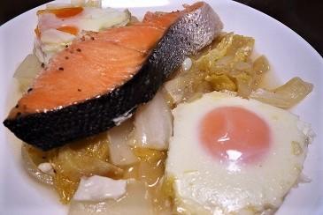 塩鮭蒸し煮