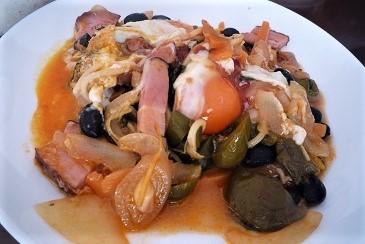 野菜とベーコン炒め