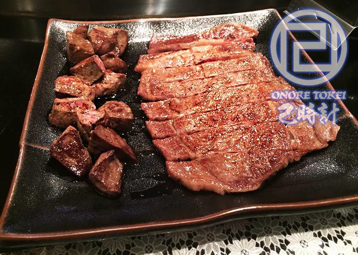 仙台牛ステーキ & 極上レバー