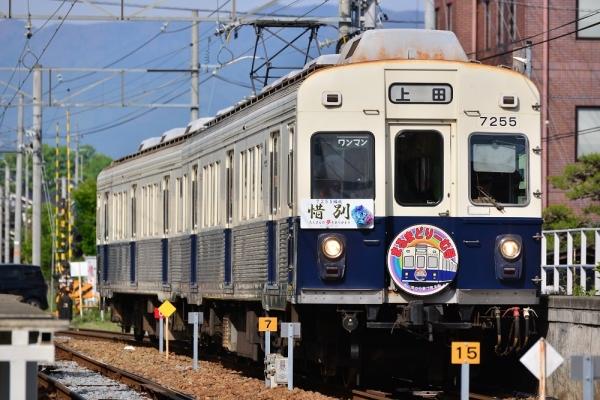 2018年5月12日 上田電鉄別所線 城下 7200系7255編成