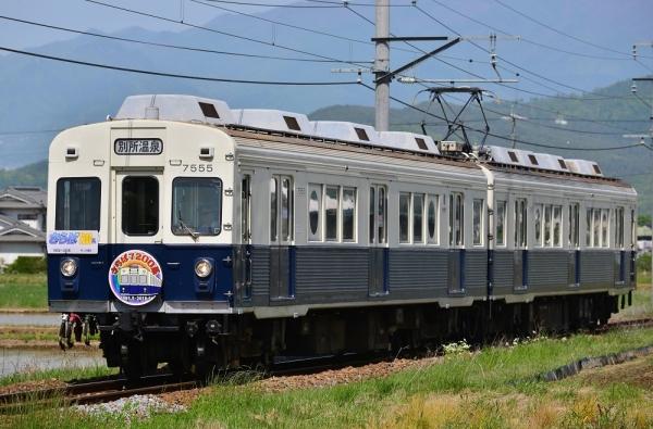 2018年5月12日 上田電鉄別所線 舞田~八木沢 7200系7255編成