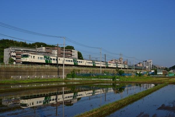 2018年6月3日 JR東日本横浜線 十日市場~中山 185系B3編成