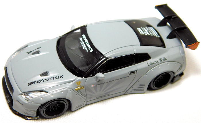 MINI GT LB★WORKS Nissan GT-R R35 GTウイング メタルグレー