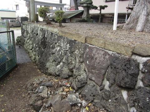 秋葉神社石垣