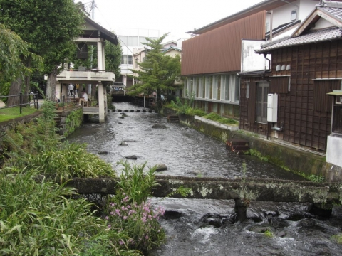 源兵衛川と石樋
