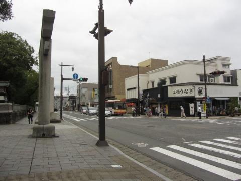 旧東海道(静岡県道22号) 三嶋大社前