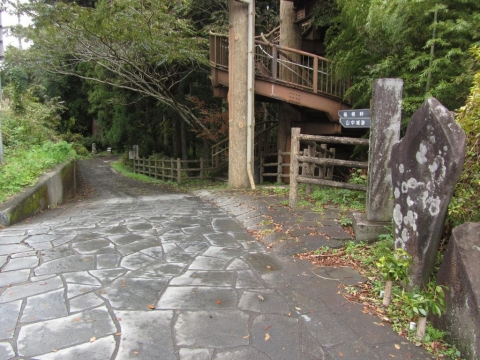 願合寺地区の石畳