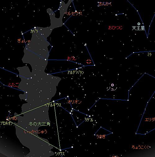 20181106 おうし座南流星群星図