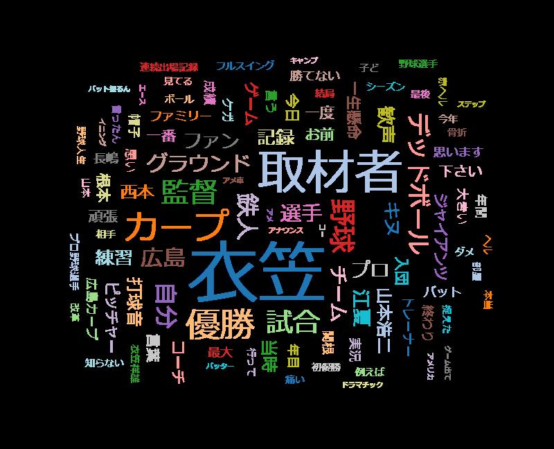 アナザーストーリーズ 衣笠祥雄ラストインタビュー~鉄人 最後のメッセージ~