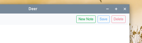 Deer Ubuntu メモアプリ 新規メモの作成