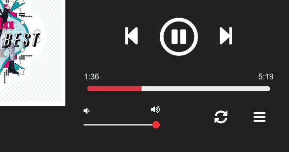 Dusk Player Ubuntu 音楽プレイヤー コントロール