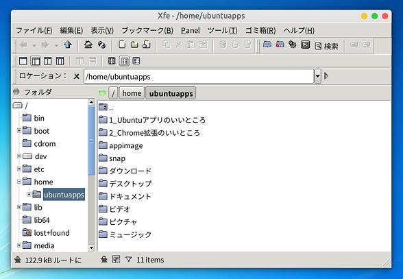 X File Explorer (Xfe) ファイルマネージャ―