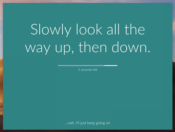 stretchly 休憩 リマインダー メッセージの表示